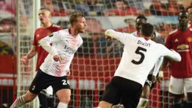 ميلان يتعادل مع مانشستر يونايتد في ذهاب دور ال16 ببطولة الدوري الاوروبي موسم 2021/2020 - صور AFP