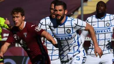 نتيجة مباراة انتر ميلان وتورينو في الدوري الايطالي
