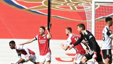 نتيجة مباراة ارسنال وفولهام في الدوري الانجليزي (صور:AFP)