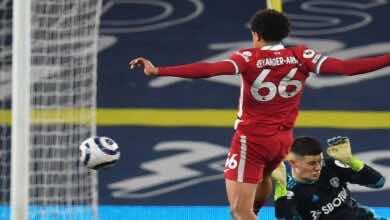 فيديو | مشاهدة اهداف مباراة ليفربول وليدز يونايتد في الدوري الانجليزي (صور:AFP)