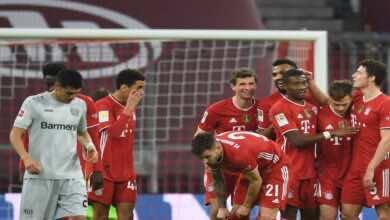 نتيجة مباراة بايرن ميونخ وباير ليفركوزن فى الدوري الالماني (صور:AFP)