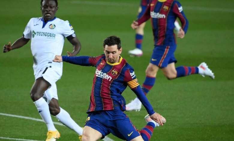 فيديو | مشاهدة اهداف مباراة برشلونة وخيتافي فى الدوري الاسباني (صور:AFP)