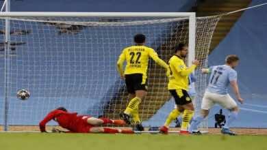 مشاهدة اهداف مباراة مانشستر سيتي وبوروسيا دورتموند في دوري ابطال اوروبا - فيديو (صور:AFP)