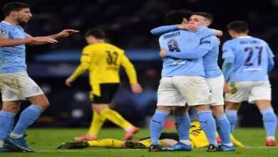 نتيجة مباراة مانشستر سيتي وبوروسيا دورتموند في دوري ابطال اوروبا (صور:AFP)