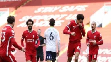 نتيجة مباراة ليفربول واستون فيلا في الدوري الانجليزي (صور:AFP)