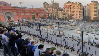 بث مباشر | شاهد موكب المومياوات الملكية المصرية - القاهرة - صور Getty