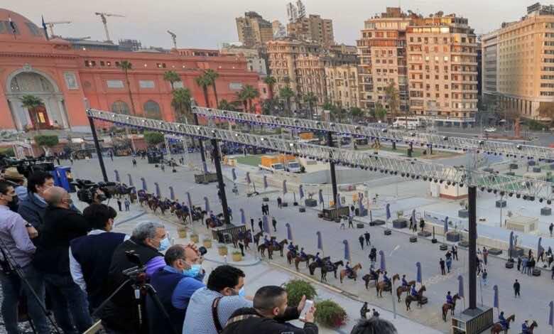 بث مباشر   شاهد موكب المومياوات الملكية المصرية - القاهرة - صور Getty