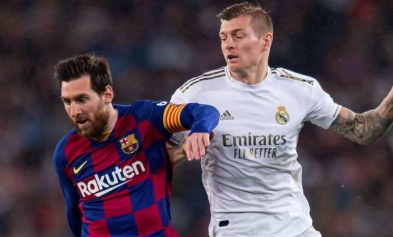 توني كروس وميسي - جدول ترتيب الدوري الإسباني قبل كلاسيكو ريال مدريد وبرشلونة - صور Getty
