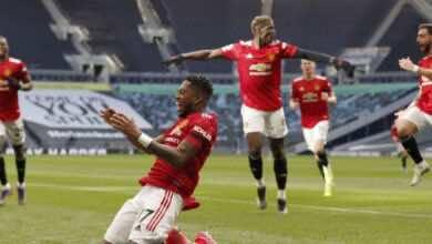 نتيجة مباراة مانشستر يونايتد وتوتنهام في الدوري الانجليزي «استفادة مثالية لتعثر السيتي»