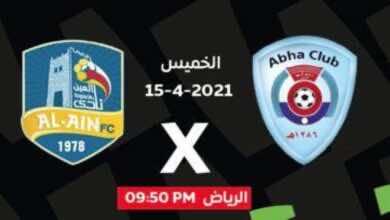 الدوري السعودي: أبها والعين في أولى مباريات الليالي الرمضانية