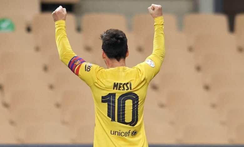 نتيجة مباراة برشلونة وبلباو في نهائي كأس اسبانيا 2021 «تتويج مذهل بفضل عبقرية ميسي»