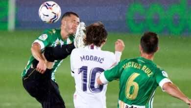 نتيجة مباراة ريال مدريد وبيتيس في الدوري الإسباني «العارضة تُبعد الريال عن اللقب»