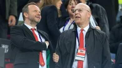مالك مانشستر يونايتد آل جليزر والمدير التنفيذي لنادي مانشستر يونايتد إد ووادورد (صور: Getty)
