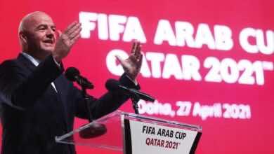 الفيفا يعلن جدول مواعيد مباريات بطولة كأس العرب «قطر 2021»