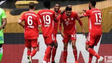 نتيجة مباراة بايرن ميونخ وفولفسبورج في الدوري الالماني