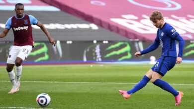 فيديو | شاهد اهداف مباراة تشيلسي ووست هام يونايتد في الدوري الانجليزي «فيرنر يعوض البؤس»