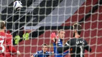 فيديو | مشاهدة اهداف مباراة مانشستر يونايتد وليستر سيتي في الدوري الانجليزي (صور:AFP)