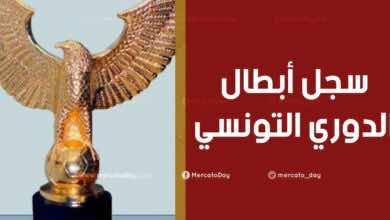 سجل الابطال | الفائزون بلقب الدوري التونسي
