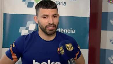 """أجويرو بعد الانضمام لـ برشلونة: """"أنا في أفضل فريق في العالم"""""""