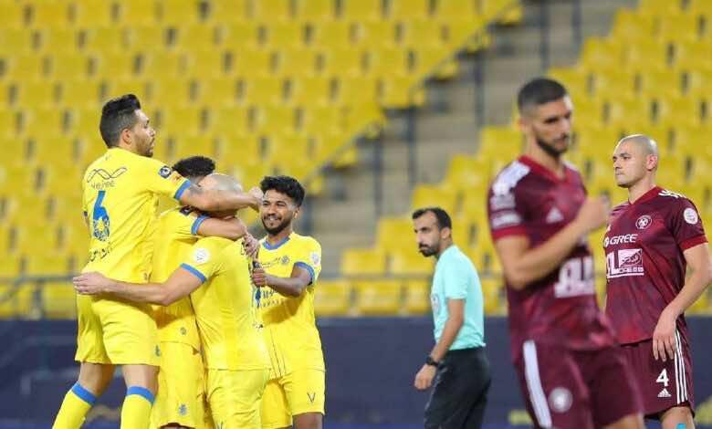 نتيجة مباراة النصر والفيصلي في الدوري السعودي (صور:twitter)