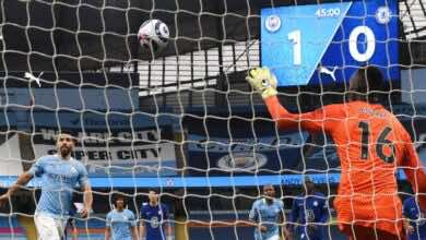 فيديو | مشاهدة اهداف مباراة مانشستر سيتي وتشيلسي فى الدوري الانجليزي (صور:AFP)