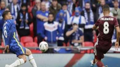 مشاهدة فيديو اهداف مباراة تشيلسي وليستر سيتي فى نهائي كأس الاتحاد الانجليزي (صور:AFP)