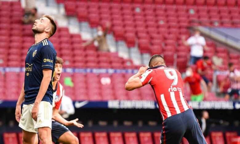 الدوري الاسباني   مشاهدة فيديو اهداف مباراة اتلتيكو مدريد واوساسونا (صور:twitter)