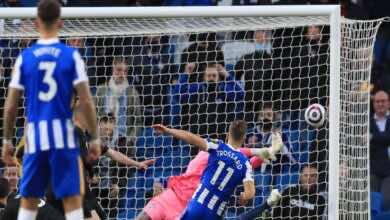 فيديو | شاهد اهداف مباراة مانشستر سيتي وبرايتون في الدوري الانجليزي «ريمونتادا قاتلة لطيور النورس» (صور:AFP)