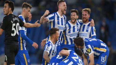 الدوري الانجليزي | برايتون يُفسد احتفالات مانشستر سيتي بفوز مثير (صور:AFP)