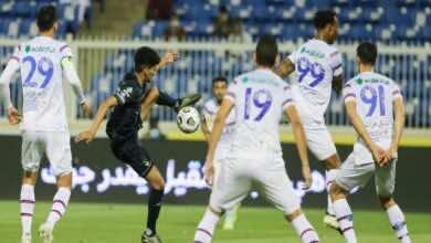 نتيجة مباراة ابها والاهلي فى الدوري السعودي «الجولة 29» (صور:twitter)