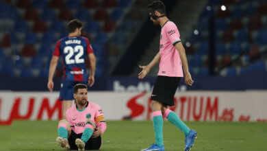 نتيجة مباراة برشلونة وليفانتي في الدوري الاسباني «البرسا يقسو على نفسه»