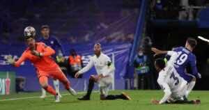 ماسون مونت يضيف هدف تشيلسي الثاني امام ريال مدريد في نصف نهائي دوري ابطال اوروبا - صور AFP
