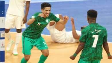 موعد مباراة الامارات والسعودية في البطولة العربية للصالات والقنوات الناقلة