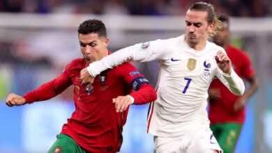 شاهد فيديو اهداف مباراة فرنسا والبرتغال في يورو 2020..رونالدو 2-2 بنزيمة