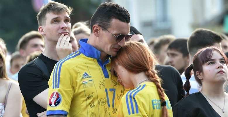 حزن بين الشعب الاوكراني بعد الخسارة من هولندا في دور مجموعات يورو 2020