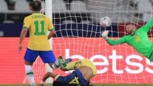 شاهد فيديو اهداف مباراة البرازيل وكولومبيا في كوبا امريكا 2021 - لويس دياز