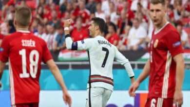 شاهد فيديو اهداف مباراة البرتغال والمجر في يورو 2020..رونالدو يُحطم رقم بلاتيني