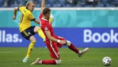 نتيجة مباراة السويد وبولندا في يورو 2020..صدارة صفراء بثاني أسرع هدف في التاريخ