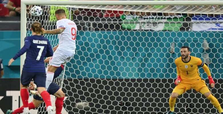 Seferovic scores the goal for Switzerland to beat France in the Euro 2020 final