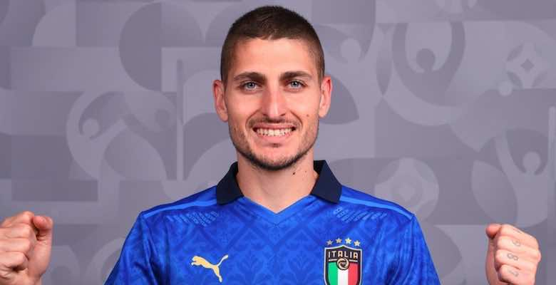 ماركو فيراتي بقميص منتخب ايطاليا في يورو 2020
