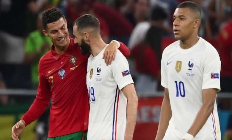 نتيجة مباراة فرنسا والبرتغال في يورو 2020..بنزيمة يرد على رونالدو في المعركة المجنونة
