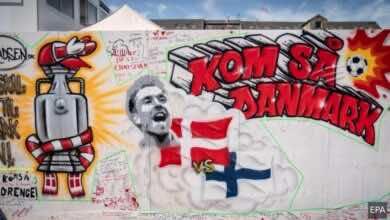 يورو 2020 | شاهد صور أول جرافيتي يُوثق حادثة كريستيان اريكسن