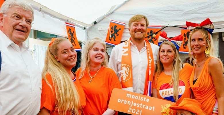 الملك وليام أليكسندر ، ملك هولندا قبل مباراة المنتخب امام النمسا في يورو 2020 - صور Getty