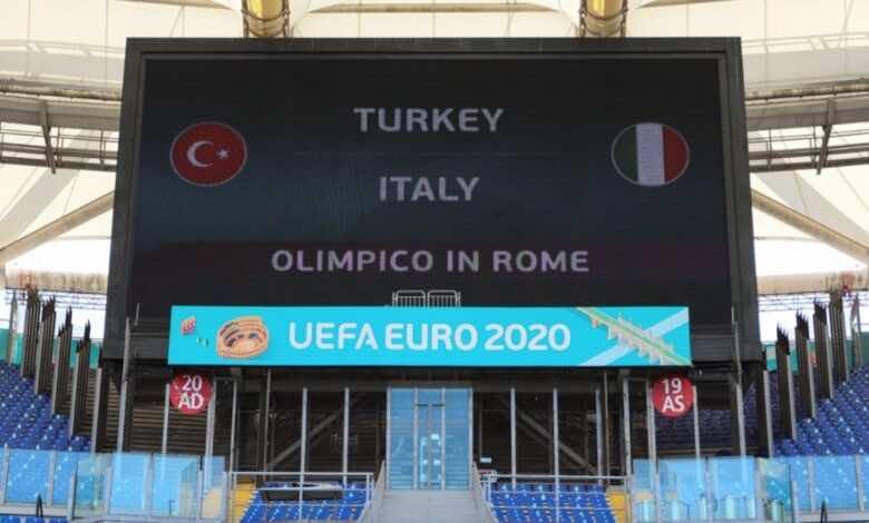 موعد مباراة ايطاليا وتركيا في افتتاح يورو 2020 والقنوات الناقلة