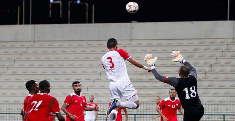 منتخب الاردن ضد منتخب عمان في لقاء ودي في مارس 2021