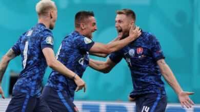 """شاهد فيديو اهداف مباراة بولندا وسلوفاكيا في يورو 2020 """"شكرينيار يعاقب كروشوفياك"""""""