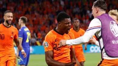 دومفريس يسجل هدف فوز هولندا 3-2 على أوكرانيا في يورو 2020