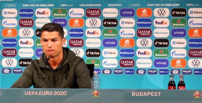 يورو 2020 | لماذا أخفى كريستيانو رونالدو عبوة كوكاكولا في مؤتمر البرتغال؟