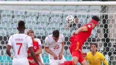 هدف مور في مباراة ويلز وسويسرا ببطولة يورو 2020