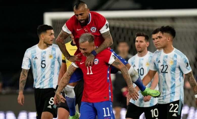 كوبا أمريكا 2020   الارجنتين تسقط في فخ تشيلي وتواصل فصولها الباردة!